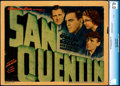"Movie Posters:Crime, San Quentin (Warner Bros., 1937). Very Good. CGC Graded Title Lobby Card (11"" X 14""). Crime.. ..."