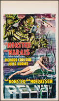 "Movie Posters:Horror, Creature from the Black Lagoon (Universal International, 1954). Folded, Very Fine. Belgian (14.5"" X 25""). Horror.. ..."