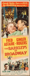 "Movie Posters:Musical, The Barkleys of Broadway (MGM, 1949). Rolled, Very Fine-. Insert (14"" X 36""). Musical.. ..."