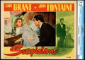 "Movie Posters:Hitchcock, Suspicion (RKO, 1941). Very Fine-. CGC Graded Lobby Card (11"" X 14"").. ..."