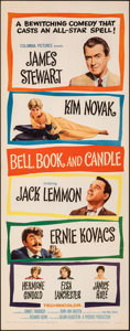 "Movie Posters:Romance, Bell, Book and Candle (Columbia, 1958). Folded, Very Fine+. Insert (14"" X 36""). Romance.. ..."