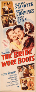 "Movie Posters:Comedy, The Bride Wore Boots (Paramount, 1946). Rolled, Very Fine-. Insert (14"" X 36""). Comedy.. ..."