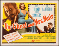 "The Ghost and Mrs. Muir (20th Century Fox, 1947). Very Fine. Title Lobby Card (11"" X 14""). Romance"
