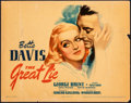 """Movie Posters:Drama, The Great Lie (Warner Brothers, 1941). Fine. Linen Finish Title Lobby Card (11"""" X 14""""). Drama.. ..."""