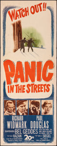 "Movie Posters:Film Noir, Panic in the Streets (20th Century Fox, 1950). Folded, Fine+. Insert (14"" X 36""). Film Noir.. ..."