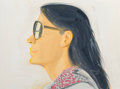 Paintings, Alex Katz (b. 1927). Untitled (Carmen), 2008. Oil on board. 11-3/4 x 15-3/4 inches (29.8 x 40.0 cm). Signed and dated lo...