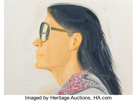 Alex Katz (b. 1927)Untitled (Carmen), 2008Oil on board11-3/4 x 15-3/4 inches (29.8 x 40.0 cm)Signed and dated lo...