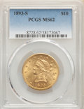 Liberty Eagles: , 1893-S $10 MS62 PCGS. PCGS Population: (194/85). NGC Census: (151/20). MS62. Mintage 141,350. ...