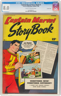 Captain Marvel Story Book #1 Crowley Copy Pedigree (Fawcett Publications, 1946) CGC VF 8.0 Cream to off-white pages