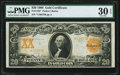 Large Size:Gold Certificates, Fr. 1185* $20 1906 Gold Certificate PMG Very Fine 30 EPQ.. ...