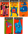 Music Memorabilia:Memorabilia, The Beatles Yellow Submarine Set of Switch Plate Covers in Package (5) 1968. ...
