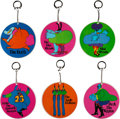 Music Memorabilia:Memorabilia, The Beatles Yellow Submarine Set of Keychains (6) Made by Pride Creations (circa late 1960s). . ...