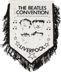 Music Memorabilia:Memorabilia, The Beatles Convention Liverpool Hanging Pennant With Tassels.. ...