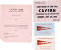 Music Memorabilia:Memorabilia, The Beatles Cavern Club Two Junior Membership Cards (1964), Unused Application Form (1965) And Ticket To Attend The Last Night...