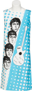 Music Memorabilia:Memorabilia, The Beatles Blue Sleeveless Cotton Dress (Holland, 1964)...