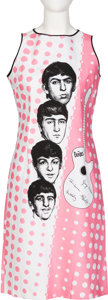 Music Memorabilia:Memorabilia, The Beatles Pink Polkadot Sleeveless Cotton Dress With Tag (Holland, 1964) ...