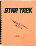 Movie/TV Memorabilia:Star Trek, Star Trek Writer's Guide (1967)....