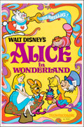 "Movie Posters:Animation, Alice in Wonderland & Other Lot (Buena Vista, R-1974). Folded & Rolled, Fine/Very Fine. One Sheets (2) (27"" X 41"" & 27"" X 40... (Total: 2 Items)"