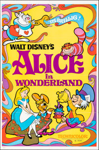 Alice in Wonderland & Other Lot (Buena Vista, R-1974). Folded & Rolled, Fine/Very Fine. One Sheets (2) (...