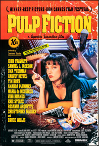 """Pulp Fiction (Miramax, 1994). Rolled, Very Fine-. One Sheet (27"""" X 40"""") SS. Crime"""