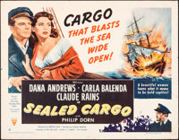 """Sealed Cargo & Other Lot (RKO, 1951). Rolled, Overall: Fine/Very Fine. Half Sheets (2) (22"""" X 28"""") Sty..."""