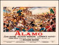 "Movie Posters:Western, The Alamo (United Artists, 1960). Fine/Very Fine on Linen. Horizontal Belgian (19"" X 25.5""). Reynold Brown Artwork. Western...."