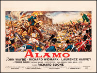 "The Alamo (United Artists, 1960). Fine/Very Fine on Linen. Horizontal Belgian (19"" X 25.5""). Reynold Brown Art..."