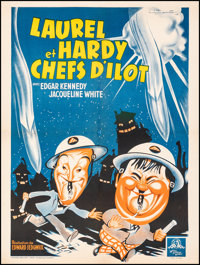 "Air Raid Wardens (MGM, 1949). Fine/Very Fine on Linen. First Release French Moyenne (23.5"" X 31.5""). Comedy..."