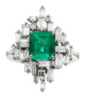 Estate Jewelry:Rings, Emerald, Diamond, White Gold Ring, H. Stern. ...
