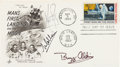 """Explorers:Space Exploration, Apollo 11 Crew-Signed """"First Man on the Moon"""" First Day Cover. ..."""