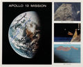 Explorers:Space Exploration, Apollo 13: Mission Collage Color Photo Signed by James Lovell, Fred Haise, and Gene Kranz. ...