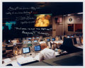 Explorers:Space Exploration, Apollo 13: NASA Mission Control Color Photo Signed by Fred Haise and Gene Kranz, both with Added Quotes....