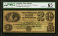 Obsoletes By State:Louisiana, New Orleans, LA- Citizens' Bank of Louisiana $20 18__ G30c Remainder PMG Gem Uncirculated 65 EPQ.. ...