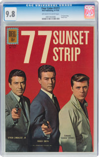 Four Color #1211 77 Sunset Strip (Dell, 1961) CGC NM/MT 9.8 Off-white to white pages