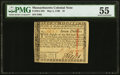 Colonial Notes:Massachusetts, Massachusetts May 5, 1780 $7 PMG About Uncirculated 55.