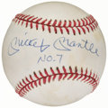 "Autographs:Baseballs, Mickey Mantle ""NO. 7"" Single Signed Baseball, Upper Deck Authenticated...."