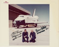 "Explorers:Space Exploration, Space Shuttle Enterprise (OV-101) First Approach and Landing Test Crew-Signed NASA ""Red Number"" Color Photo. ..."
