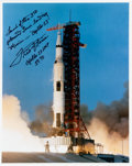 Explorers:Space Exploration, Fred Haise Signed Apollo 13 Launch Color Photo. ...