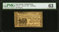 New Jersey June 22, 1756 3s PMG Choice Uncirculated 63