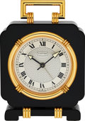 Timepieces:Clocks, Cartier, Art Deco Style Alarm Clock, circa 2000 . ...