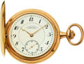 Timepieces:Pocket (post 1900), A. Lange & Söhne, Deutsche Uhrenfabrikation, 14k Gold Hunters Case, circa 1920. ...