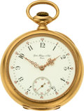 Timepieces:Pocket (pre 1900) , Patek Philippe & Cie, Heavy 18k Gold Pocket Watch, circa 1887. ...