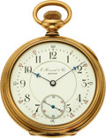 Timepieces:Pocket (pre 1900) , E. Howard & Co., 14k Gold Series VII Split-Plate, circa 1897. ...
