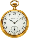 Timepieces:Pocket (post 1900), Patek Philippe & Co., 32 mm 18k Pendant Watch For Tiffany & Co., circa 1920. ...