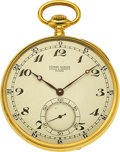 Timepieces:Pocket (pre 1900) , Ulysse Nardin, Gent's Gold Pocket Watch, circa 1905. ...