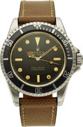 Timepieces:Wristwatch, Rolex, Ref. 5513 Submariner, Gloss Gilt Dial, Stainless Steel, Circa 1964. ...