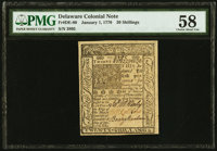 Delaware January 1, 1776 20s PMG Choice About Unc 58