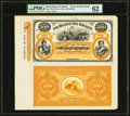 World Currency, Brazil Banco Do Brazil 500 Mil Reis ND (ca. 1875) Pick S256p Front and Back Proofs PMG Uncirculated 62.. ...