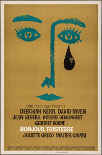 "Bonjour Tristesse (Columbia, 1958). Folded, Very Fine-. One Sheet (27"" X 41""). Saul Bass Artwork. Drama"