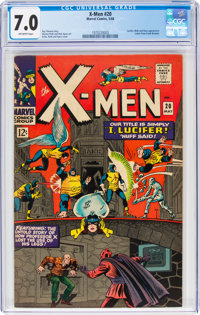 X-Men #20 (Marvel, 1966) CGC FN/VF 7.0 Off-white pages